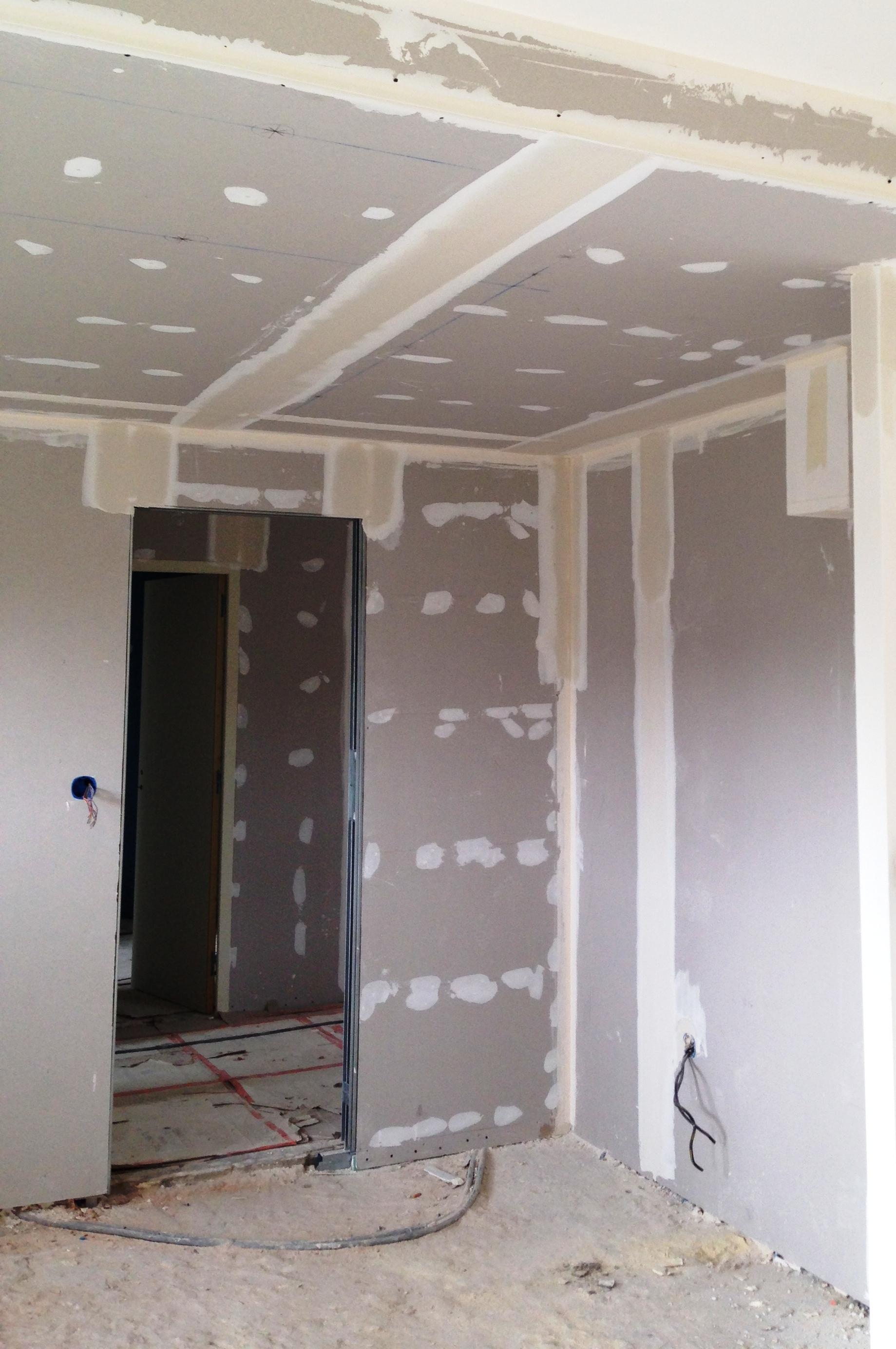 cloison plaque de platre 3 1 isol 22. Black Bedroom Furniture Sets. Home Design Ideas